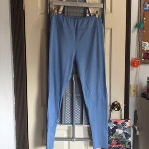 LulaRoe Leggings Tall & Curvy Light Blue